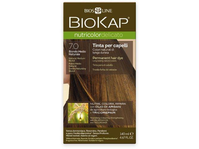 Zobrazit detail výrobku Biokap NUTRICOLOR DELICATO - Barva na vlasy - 7.0 Blond přírodní střední 140 ml