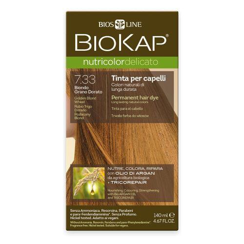 Zobrazit detail výrobku Biokap NUTRICOLOR DELICATO - Barva na vlasy - 7.33 Blond Zlatá pšenice 140 ml