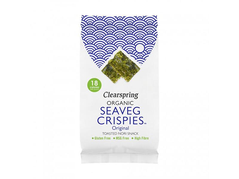 Clearspring Seaveg Crispies – Křupky z mořské řasy Nori solené BIO 4 g