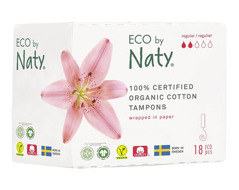 Zobrazit detail výrobku Eco by Naty Dámské tampóny ECO by Naty  - normal (18 ks)