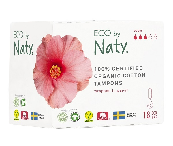 Zobrazit detail výrobku Eco by Naty Dámské tampóny ECO by Naty  - super (18 ks)