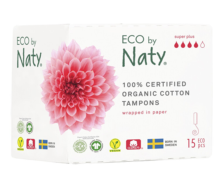 Zobrazit detail výrobku Eco by Naty Dámské tampóny ECO by Naty  - super plus (15 ks)