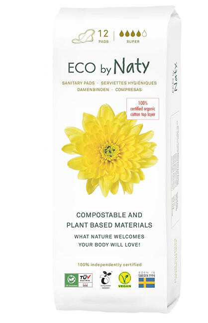 Zobrazit detail výrobku Eco by Naty Dámské vložky ECO by Naty - super 12 ks