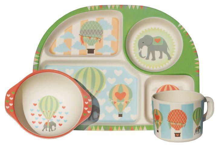 Zobrazit detail výrobku Ecoffee cup 3-dílný dětský BimBamBoo bambusový set Balóny