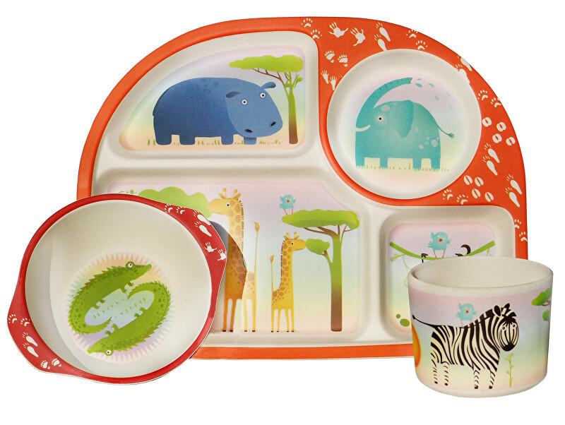 Zobrazit detail výrobku Ecoffee cup 3-dílný dětský BimBamBoo bambusový set Zvířátka