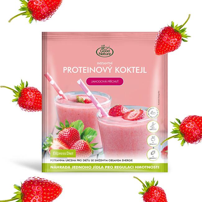 Zobrazit detail výrobku Good Nature Proteinový koktejl s jahodovou příchutí na hubnutí 59 g