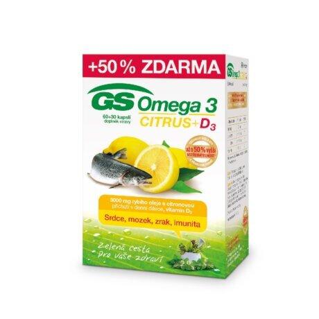 Zobrazit detail výrobku Green-Swan GS Omega 3 Citrus + D3, 60+30 kapslí