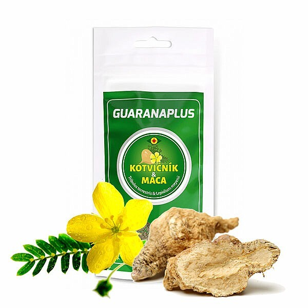 Zobrazit detail výrobku Guaranaplus Kotvičník + Maca, 100 kapslí