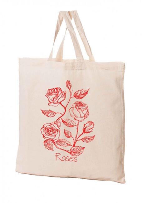Zobrazit detail výrobku KPPS Přírodní bavlněná taška 16 l Růže