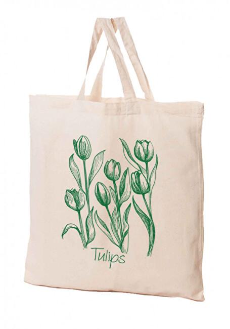 Zobrazit detail výrobku KPPS Přírodní bavlněná taška 16 l Tulipán