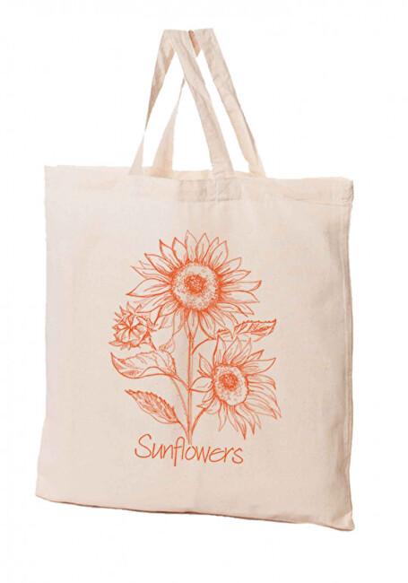 Zobrazit detail výrobku KPPS Přírodní bavlněná taška 16 l Slunečnice