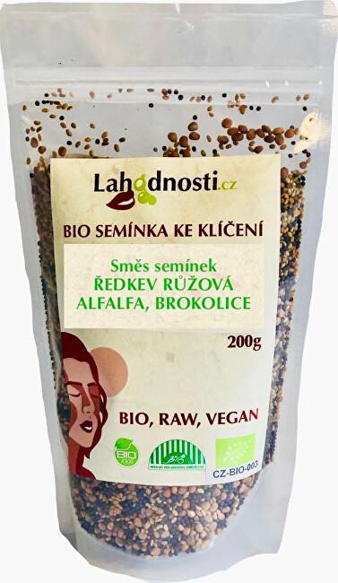 Zobrazit detail výrobku Lahodnosti Směs semínek BIO - ředkvička, alfalfa, brokolice 200 g
