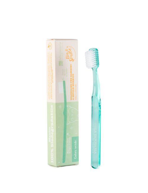 Zobrazit detail výrobku laSaponaria Dětský zubní kartáček - zelený
