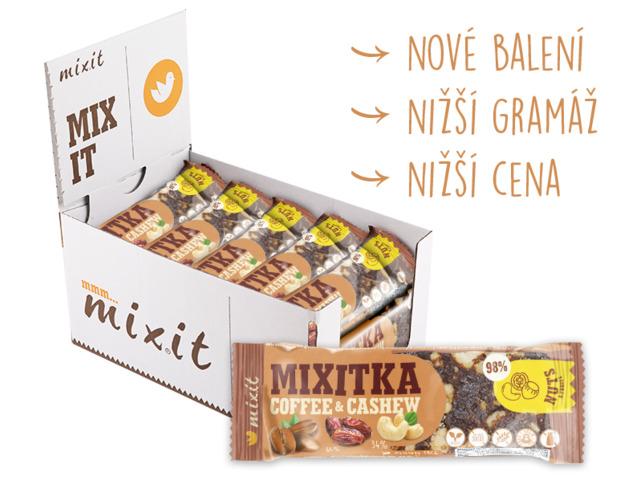 Zobrazit detail výrobku Mixit Mixitka bez lepku - Káva + Kešu 20 ks