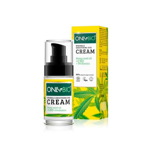 Zobrazit detail výrobku OnlyBio Oční krém proti vráskám s konopím a CBD olejem 30 ml