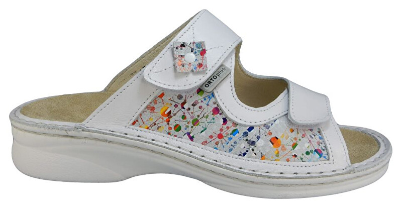 Zobrazit detail výrobku ORTO plus Bílé zdravotní pantofle s vyjímatelnou stélkou 38