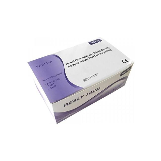 Zobrazit detail výrobku HANGZHOU REALY TECH CO.,LTD. 5 ks RealyTech Novel Coronavirus (SARS-Cov-2) Antigen Rapid Test Device - ze slin