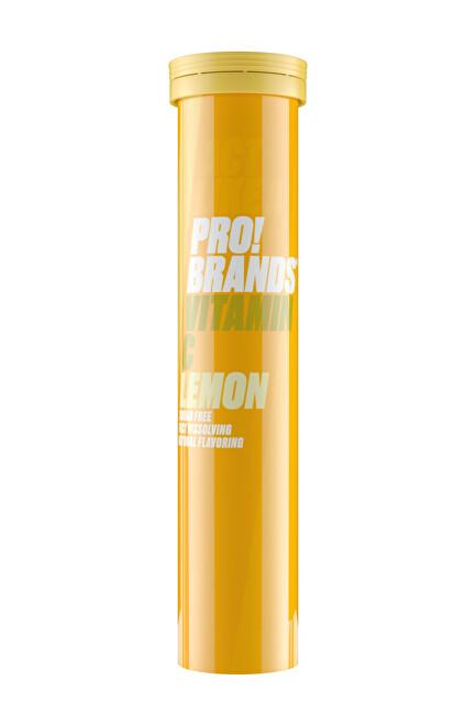 Zobrazit detail výrobku PRO!BRANDS Vitamin C 80 g - 20 šumivých tablet - citron