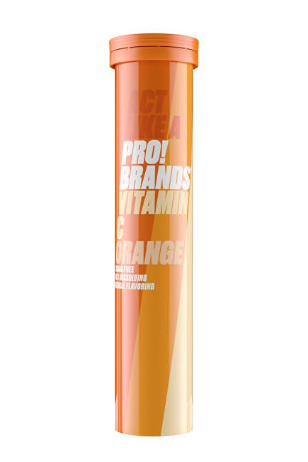 Zobrazit detail výrobku PRO!BRANDS Vitamin C 80 g - 20 šumivých tablet - pomeranč