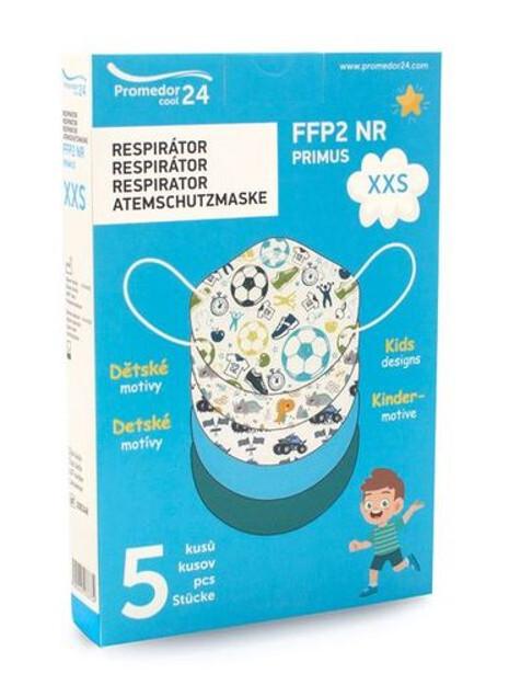 Zobrazit detail výrobku Promedor24 Respirátor FFP2 NR PRIMUS XXS 5 ks – chlapecký motiv