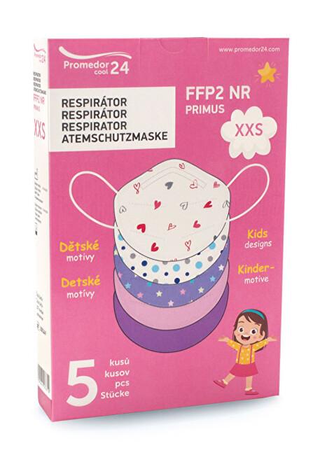 Zobrazit detail výrobku Promedor24 Respirátor FFP2 NR PRIMUS XXS 5 ks - dívčí motiv