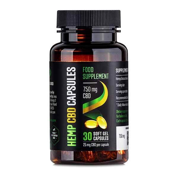 Zobrazit detail výrobku Reakiro CBD Gelové kapsle 750 mg CBD 30 ks