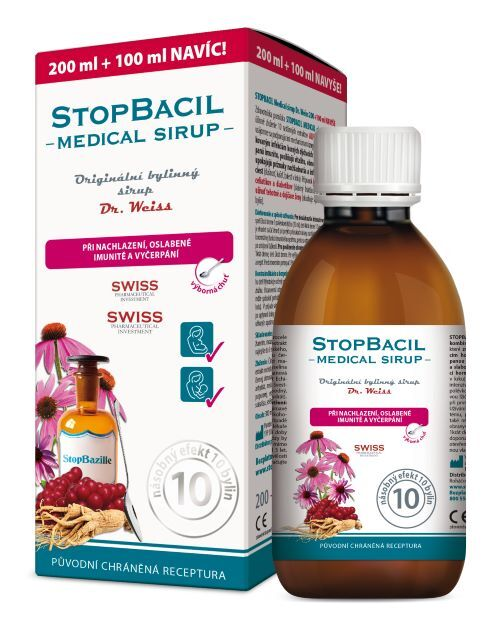 Zobrazit detail výrobku Simply You StopBacil Medical sirup Dr. Weiss 200 ml + 100 ml ZDARMA