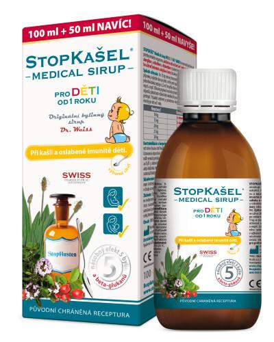 Zobrazit detail výrobku Simply You StopKašel Medical sirup od 1 roku 100 ml + 50 ml ZDARMA