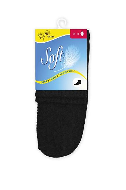 Zobrazit detail výrobku Soft Dámské ponožky se zdravotním lemem střední - černé 39 - 42
