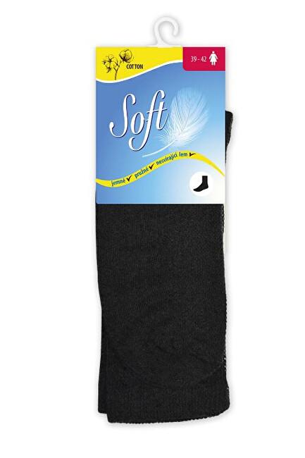 Zobrazit detail výrobku Soft Dámské ponožky se zdravotním lemem vysoké - černé 39 - 42