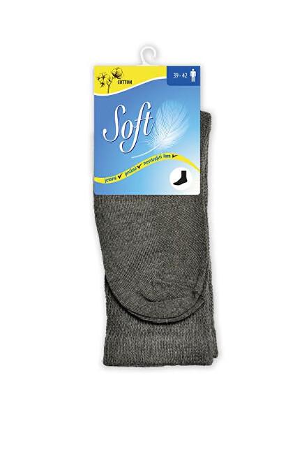 Zobrazit detail výrobku Soft Pánské ponožky se zdravotním lemem vysoké - antracitové 39 - 42