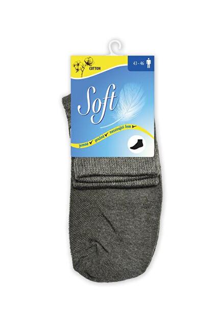 Zobrazit detail výrobku Soft Pánské ponožky se zdravotním lemem střední - antracitové 43 - 46
