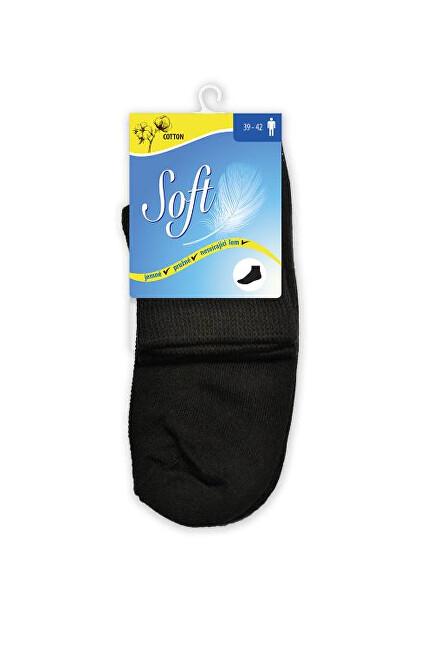 Zobrazit detail výrobku Soft Pánské ponožky se zdravotním lemem střední - černé 43 - 46