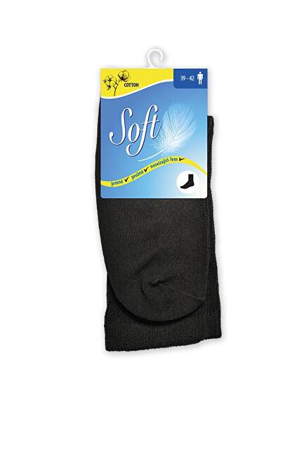 Zobrazit detail výrobku Soft Pánské ponožky se zdravotním lemem vysoké - černé 43 - 46