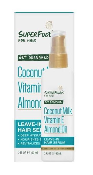 Zobrazit detail výrobku SUPERFOODS Get Drenched sérum - kokosové mléko, vitamín E a mandlový olej 60 ml