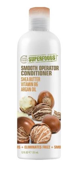 Zobrazit detail výrobku SUPERFOODS Smooth Opearator kondicionér - bambucké máslo, vitamín B6 a arganový olej 355 ml
