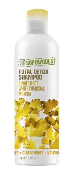 Zobrazit detail výrobku SUPERFOODS Total Detox šampon - zázvor, matcha a bílý charcoal 355 ml