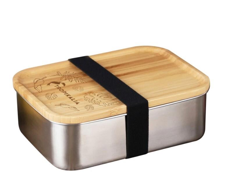 Zobrazit detail výrobku Tropikalia Nerezový lunch box s dřevěným víkem