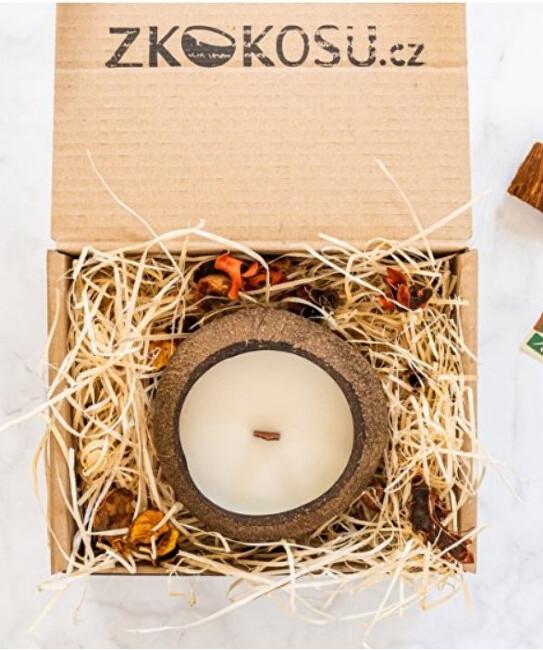 Zobrazit detail výrobku zKokosu Sojová svíčka s vůní KOKOSU v dárkovém balení