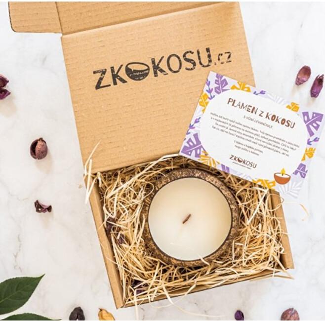 Zobrazit detail výrobku zKokosu Sojová svíčka s vůní LEVANDULE v dárkovém balení