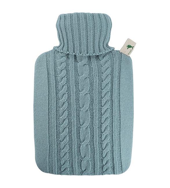 Hugo-Frosch Termofor classic s pleteným obalem - pastelově modrý