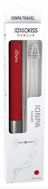 IONIC Corporation Sonický ionizační cestovní zubní kartáček IONICKISS IONPA TRAVEL Červená
