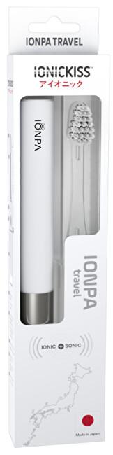 IONIC Corporation Sonický ionizační cestovní zubní kartáček IONICKISS IONPA TRAVEL Bílá