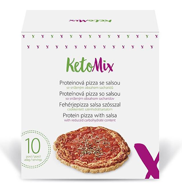 Zobrazit detail výrobku KetoMix Proteinová pizza se salsou 10 porcí