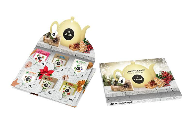 Zobrazit detail výrobku LEROS Nástěnný adventní kalendář bylinných čajů 24 ks