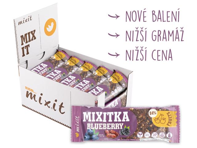 Zobrazit detail výrobku Mixit Mixitka bez lepku - Borůvka 46 g 20 ks