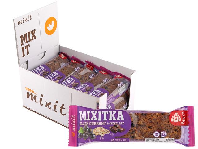 Zobrazit detail výrobku Mixit Mixitka bez lepku - Černý rybíz + čokoláda 20 ks