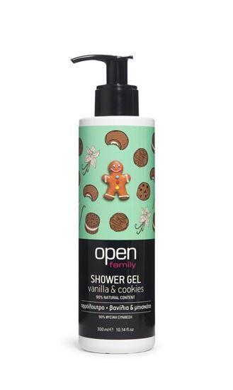 Zobrazit detail výrobku Open Sprchový gel vanilka & sušenky s pumpičkou 300 ml