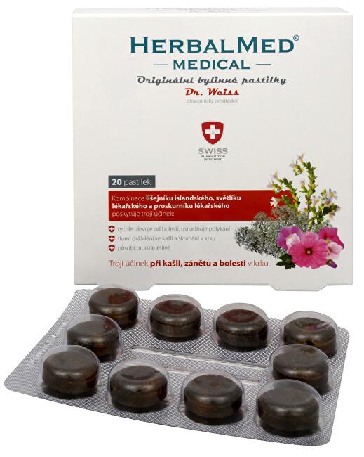 Zobrazit detail výrobku Simply You Herbalmed Medical pastilky Dr. Weiss 20 pastilek - SLEVA - poškozená krabička