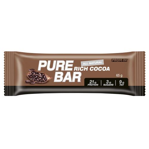 Zobrazit detail výrobku Prom-in Pure bar 65 g kakao - SLEVA - KRÁTKÁ EXPIRACE 5.2.2021